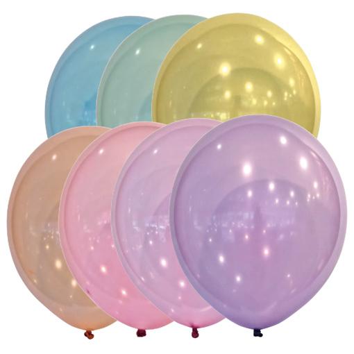 Obrázok z Dekoračné balónik kryštalický mix Droplets 30 cm - 50 ks
