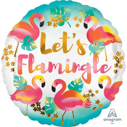 Obrázok z Fóliový balónik Plameniak - Lets Flamingle 43 cm