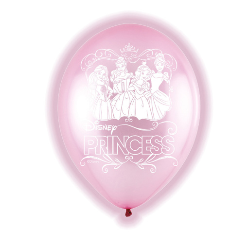 Obrázok z Latexové LED balóniky Disney Princess 28 cm - 5 ks