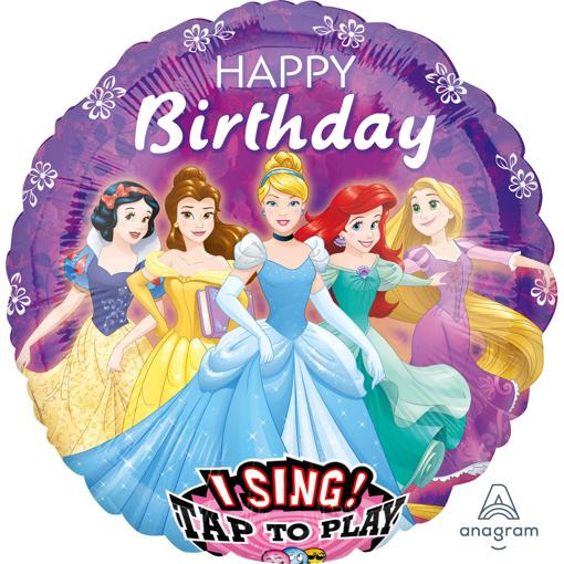 Obrázok z Fóliový spievajúci balónik Disney Princess - 71 cm