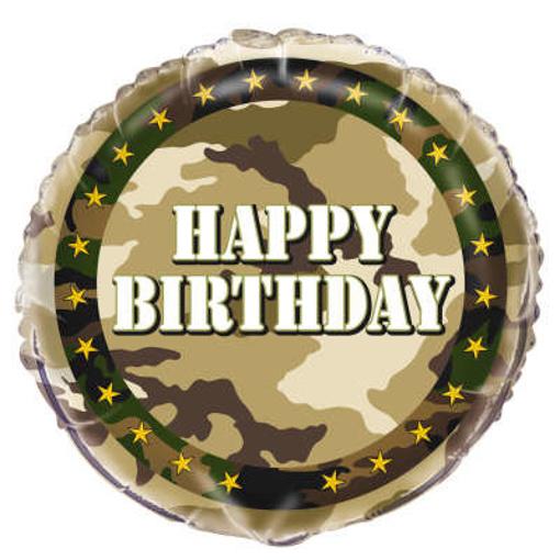 Obrázok z Fóliový balónik vojenský - military 45 cm