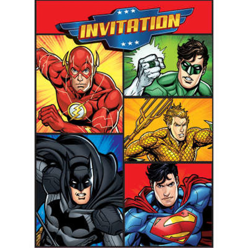 Obrázok z Party pozvánky Liga Spravedlnosti 8 ks