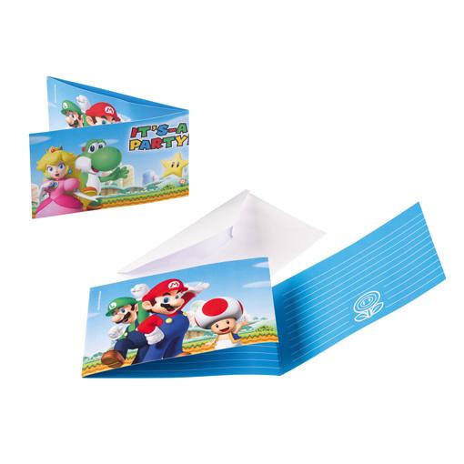 Obrázok z Party pozvánky Super Mario 8 ks
