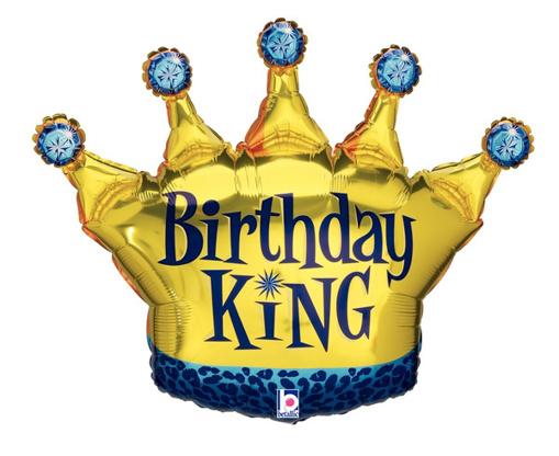 Obrázok z Fóliový balónik Birthday King 90 cm