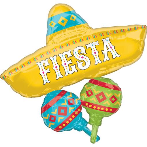 Obrázok z Fóliový balónik Fiesta klobúk 78 x 81 cm