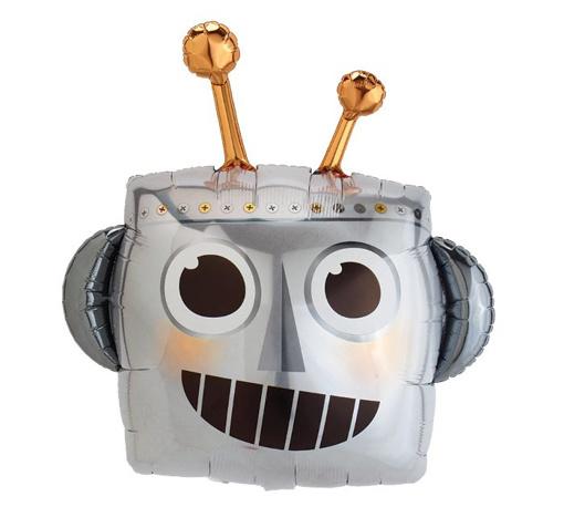 Obrázok z Fóliový balónik Robot hlava 88 cm