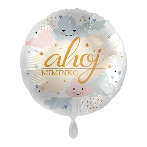 Obrázok z Foliový balonek Ahoj miminko CZ 43 cm