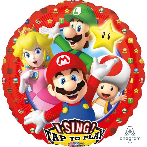 Obrázok z Fóliový spievajúci balónik Super Mario 71 cm
