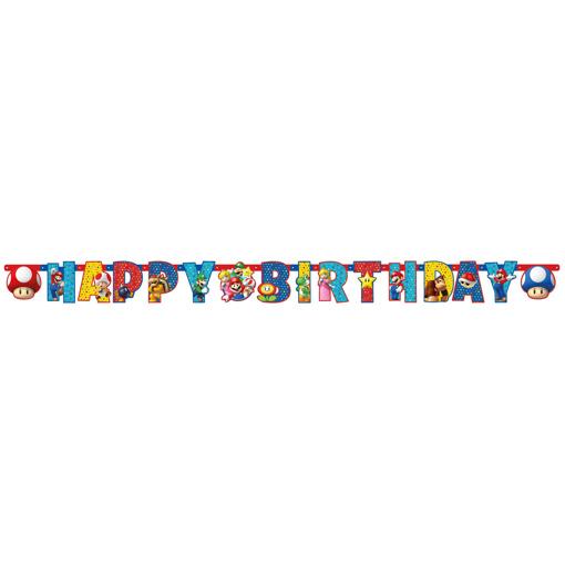 Obrázok z Party nápis Super Mario 190 x 15 cm