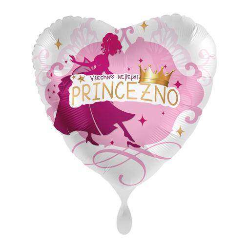Obrázok z Fóliový balónik Všetko najlepšie princezná CZ 43cm