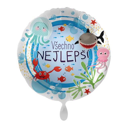 Obrázok z Fóliový balónik Všetko najlepšie CZ - More 43cm