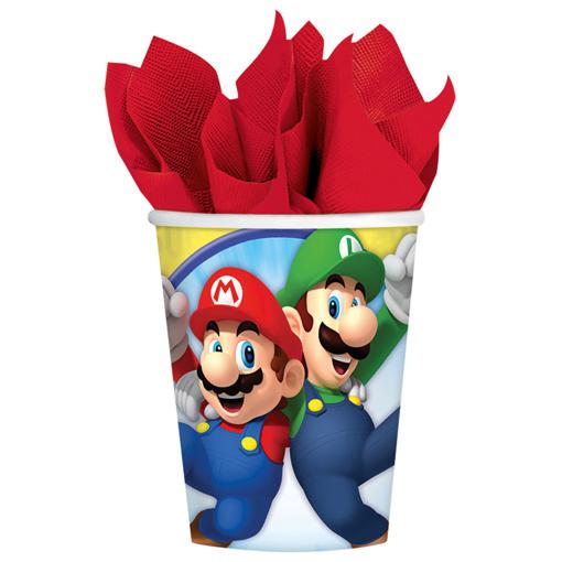 Obrázok z Papierové kelímky Super Mario 8 ks