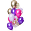 Obrázok z Latexové balóniky Purple Posh 33 cm - 12 ks