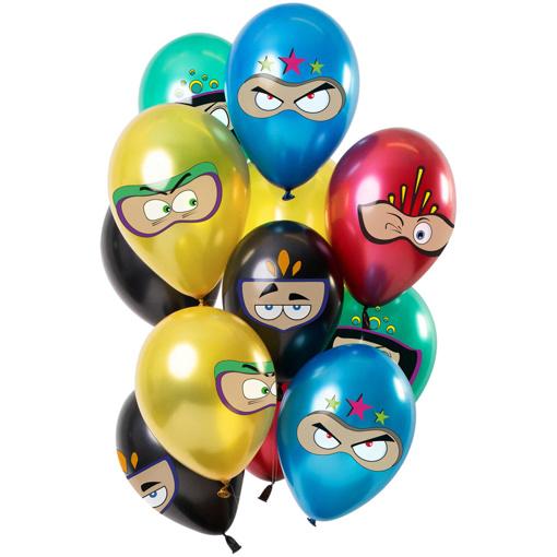 Obrázok z Latexové balonky Metallic Ninja 30 cm - 12 ks