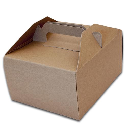 Obrázok z Krabice na výslužku KRAFT 18,5 x 15 x 9,5 cm - 50 ks