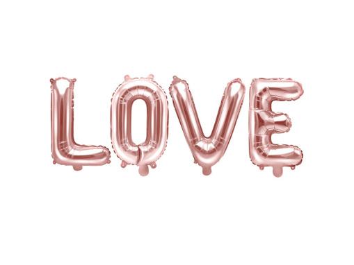 Obrázok z Fóliový nápis LOVE v rose gold farbe 140 x 35 cm