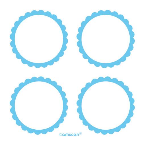 Obrázok z Samolepky na darčeky a candybar - modré 5 ks