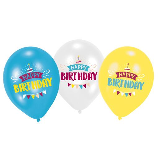 Obrázok z Latexové balóniky My Birthday 28 cm - 6 ks