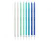 Obrázok z Tortové sviečky modrý mix s trblietkami 24 ks