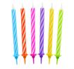 Obrázok z Tortové sviečky s držiakmi 24 ks - 6 fareb