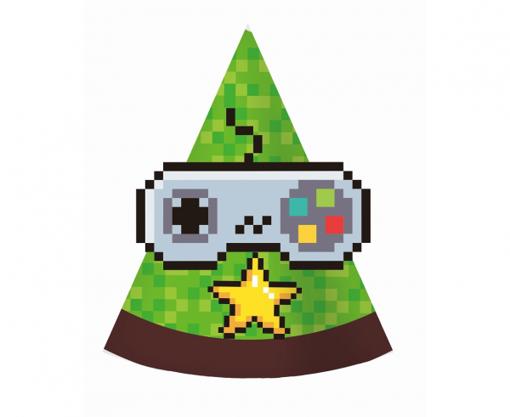 Obrázok z Party čiapočky Game On - 6 ks