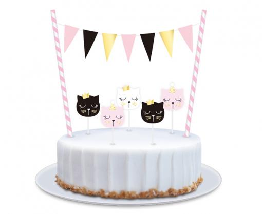 Obrázok z Dekorácia na tortu Mačička party