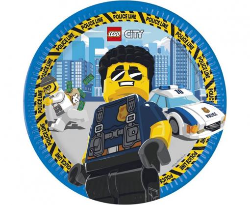 Obrázok z Papierové party taniere Lego City 23 cm