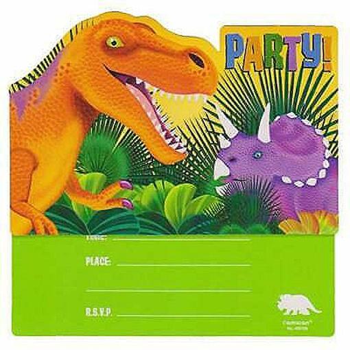 Obrázok z Party pozvánky Dinosauři - 8 ks