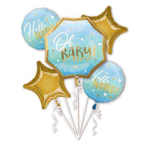 Obrázok z Sada fóliových balónikov Oh Baby - modrý - 5 ks