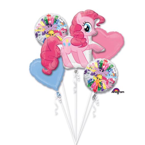 Obrázok z Sada fóliových balónikov Pinkie Pie - 5 ks