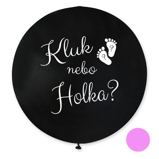 Obrázok z Jumbo Balónik Chlapec alebo dievča? CZ - 80 cm - růžová náplň