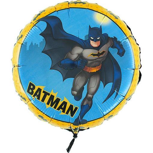 Obrázok z Fóliový balónik Batman okrúhly 45 cm - nebalené