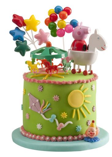 Obrázok z Dekorácia na tortu - Prasiatko Peppa a kolotoč 11 cm