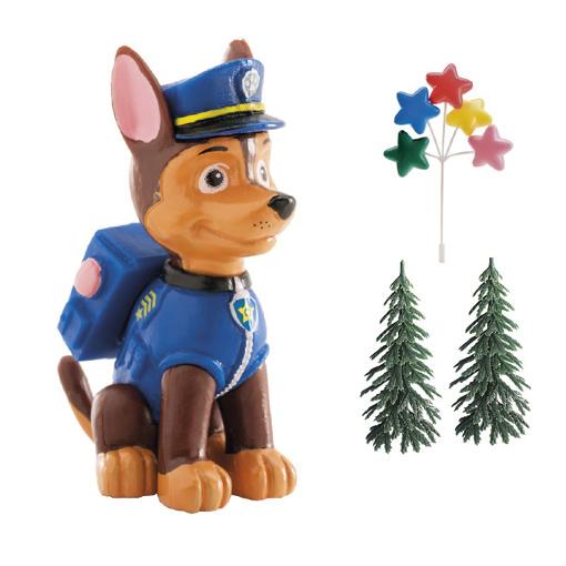 Obrázok z Dekorácia na tortu - Tlapková Patrola Chase a stromčeky 6 cm