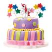 Obrázok z Dekorácia na tortu - Jednorožec a hviezdičky 9 cm