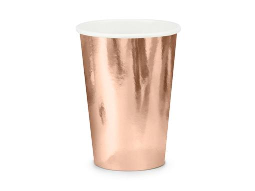 Obrázok z Papierové kelímky metalické rose gold 6 ks