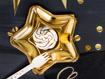 Obrázok z Papierové tanieriky v tvare hviezdy - metalické zlaté 18 cm