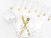 Obrázok z Girlanda Pierka bielo-zlatá 160 cm