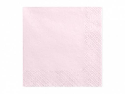Obrázok z Papierové obrúsky púdrovo ružovej 20 ks