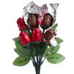 Obrázok z Čokoládová kytica - červené ruže 6 ks