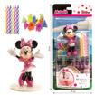 Obrázok z Dekorácia na tortu - Minnie Mouse a sviečky 7 cm