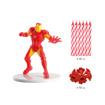 Obrázok z Dekorácia na tortu - Iron man a sviečky 7 cm