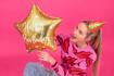 Obrázok z Fóliový balónik Happy Birthday - Zlatá Hviezda 40 cm