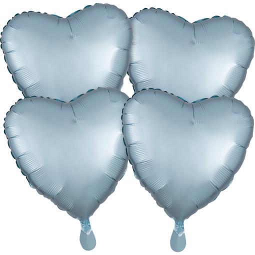 Obrázok z Fóliové balóniky srdce Satin Luxe Modré pastelové, 4 ks