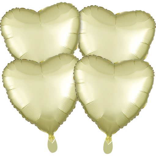 Obrázok z Fóliové balóniky srdce Satin Luxe Bronzové, 4 ks