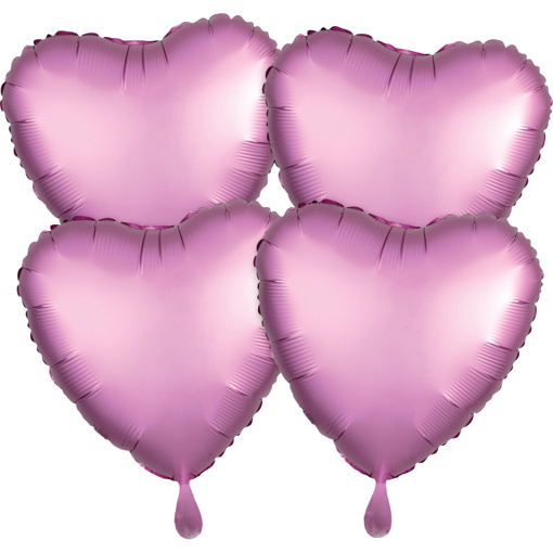 Obrázok z Foliové balonky srdce Satin Luxe Flamingo, 4 ks