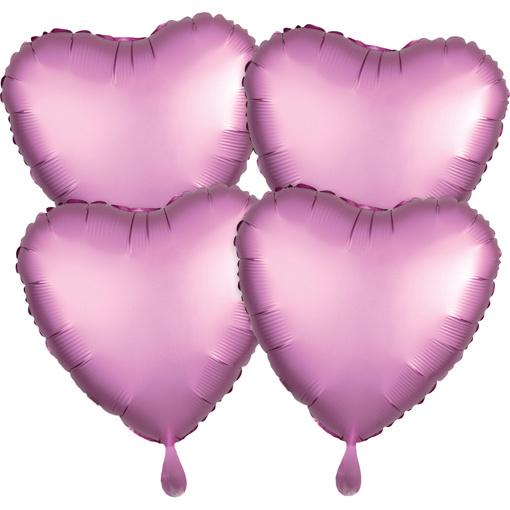 Obrázok z Foliové balonky srdce Satin Luxe Bílé, 4 ks