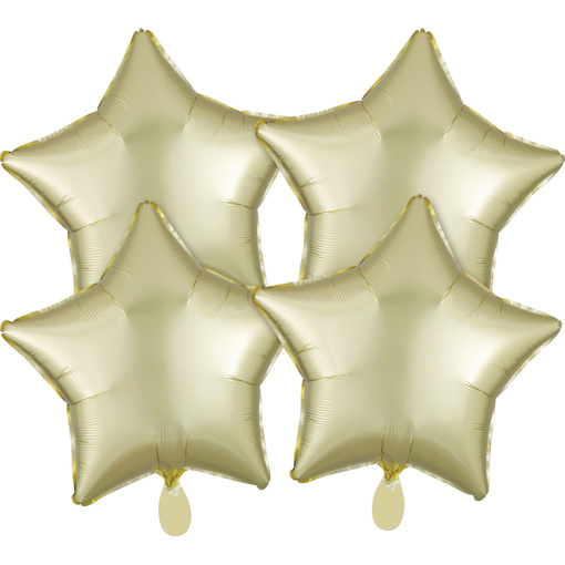 Obrázok z Fóliové balóniky hviezdy Satin Luxe Bronzové, 4 ks