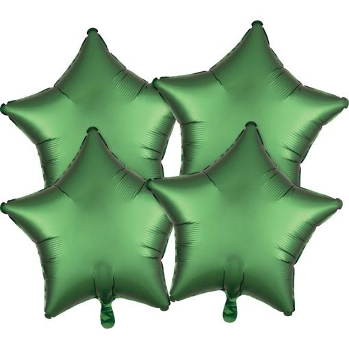 Obrázok z Fóliové balóniky hviezdy Satin Luxe Zelené, 4 ks