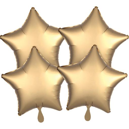Obrázok z Fóliové balóniky hviezdy Satin Luxe Zlaté, 4 ks